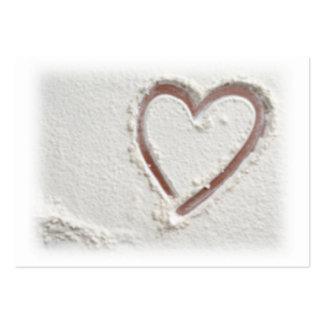 Corazón de la arena tarjetas de visita grandes
