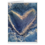 Corazón de la arena tarjetón