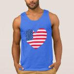 Corazón de la bandera americana