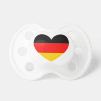 Corazón de la bandera de Alemania Chupetes De Bebe