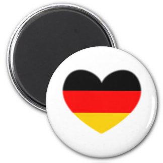 Corazón de la bandera de Alemania Imán Redondo 5 Cm
