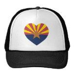 Corazón de la bandera de Arizona Gorras De Camionero
