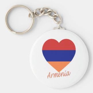 Corazón de la bandera de Armenia Llavero