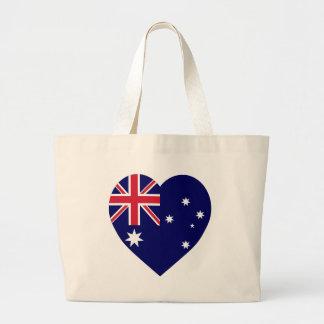 Corazón de la bandera de Australia Bolsas