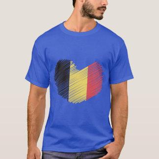 Corazón de la bandera de Bélgica del amor Playera