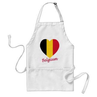 Corazón de la bandera de Bélgica Delantal
