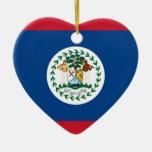 Corazón de la bandera de Belice Adorno Para Reyes