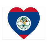 Corazón de la bandera de Belice Tarjetas Postales