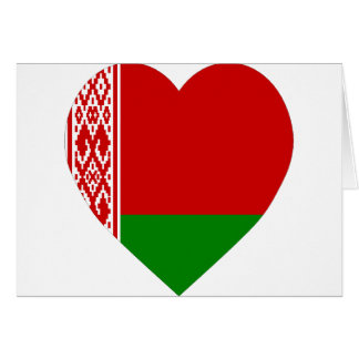 Corazón de la bandera de Bielorrusia Tarjeta De Felicitación