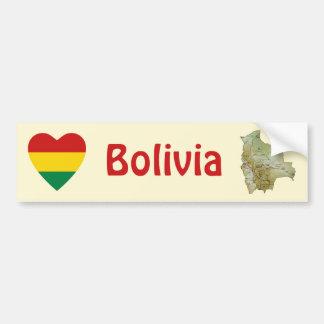 Corazón de la bandera de Bolivia + Pegatina para e Pegatina Para Auto