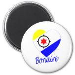 Corazón de la bandera de Bonaire Iman Para Frigorífico