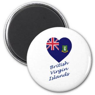 Corazón de la bandera de British Virgin Islands Imán