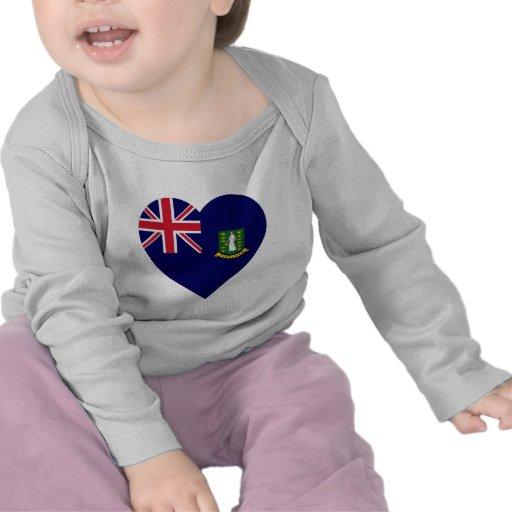 Corazón de la bandera de British Virgin Islands Camiseta