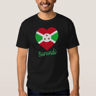 Corazón de la bandera de Burundi Poleras