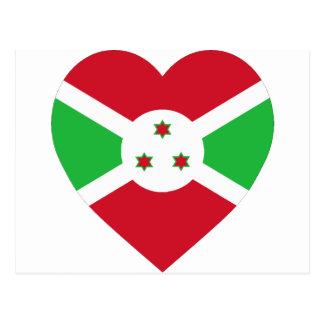 Corazón de la bandera de Burundi Postales