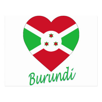 Corazón de la bandera de Burundi Tarjetas Postales