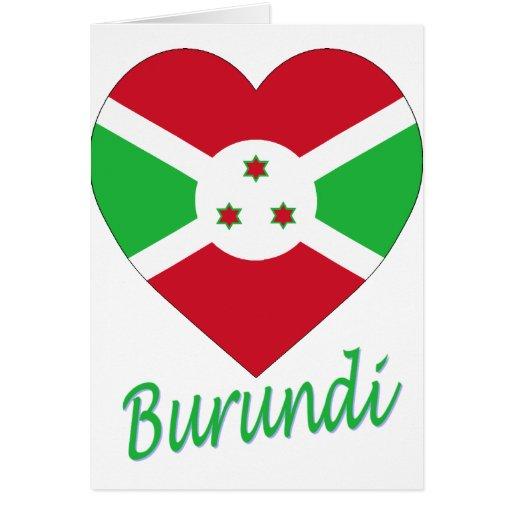 Corazón de la bandera de Burundi Tarjeton