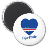 Corazón de la bandera de Cabo Verde Imán Para Frigorifico