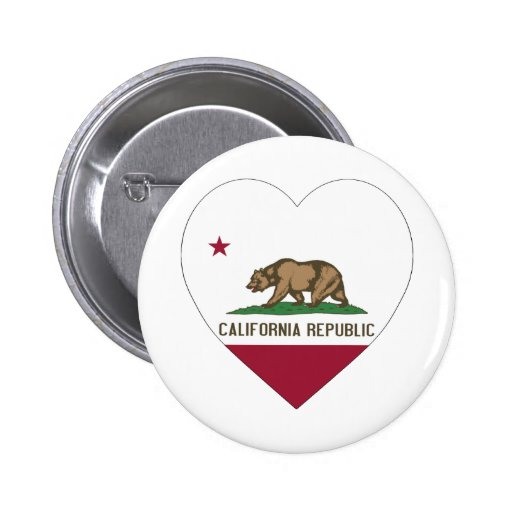 Corazón de la bandera de California Pins