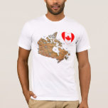 Corazón de la bandera de Canadá + Camiseta del