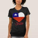 Corazón de la bandera de Chile Camiseta