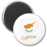 Corazón de la bandera de Chipre Imán Para Frigorífico