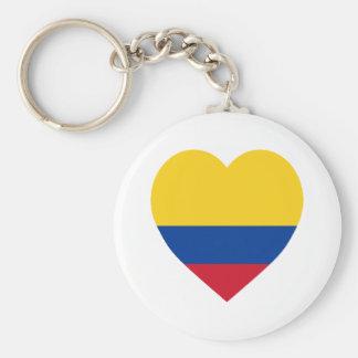 Corazón de la bandera de Colombia Llaveros Personalizados