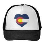 Corazón de la bandera de Colorado Gorras