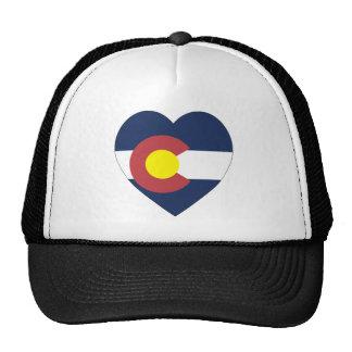 Corazón de la bandera de Colorado Gorras De Camionero