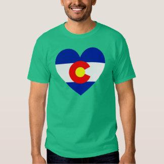 Corazón de la bandera de Colorado Playera
