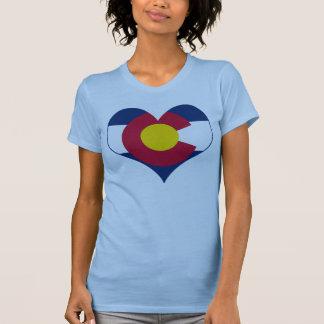 Corazón de la bandera de Colorado Polera