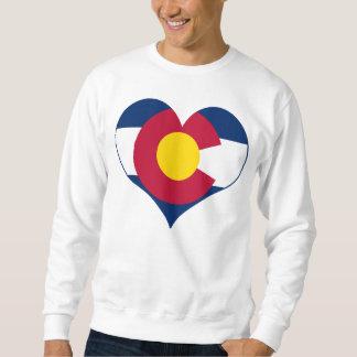 Corazón de la bandera de Colorado Sudaderas