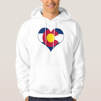 Corazón de la bandera de Colorado Suéter Con Capucha