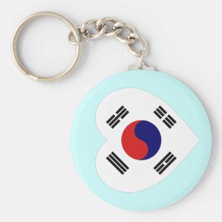 Corazón de la bandera de Corea (sur) Llaveros Personalizados