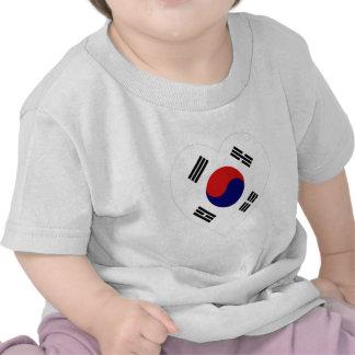 Corazón de la bandera de Corea (sur) Camiseta