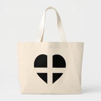 Corazón de la bandera de Cornualles Bolsa De Mano
