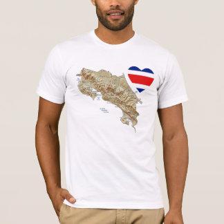 Corazón de la bandera de Costa Rica + Camiseta del