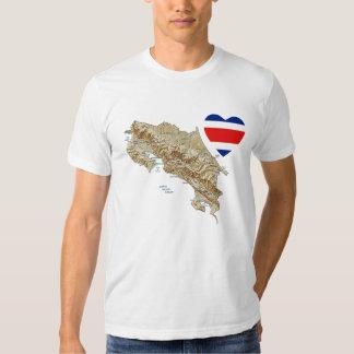 Corazón de la bandera de Costa Rica + Camiseta del Polera