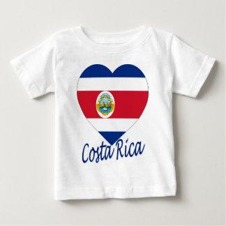 Corazón de la bandera de Costa Rica Playera