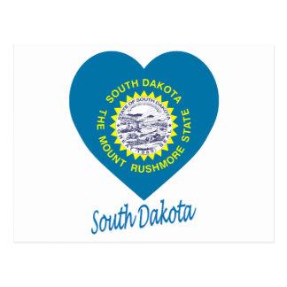 Corazón de la bandera de Dakota del Sur Tarjeta Postal