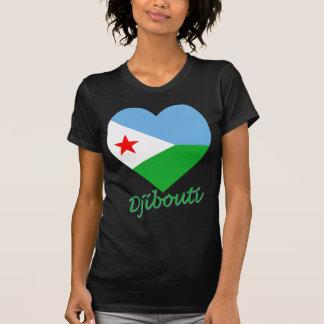 Corazón de la bandera de Djibouti Camiseta