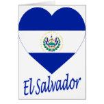 Corazón de la bandera de El Salvador Tarjetas