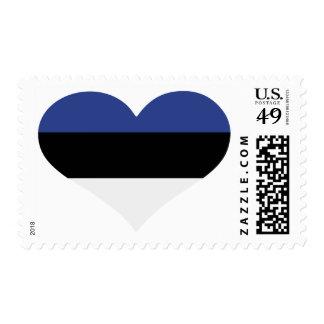 Corazón de la bandera de Estonia Envio