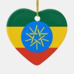 Corazón de la bandera de Etiopía Ornamentos De Reyes Magos