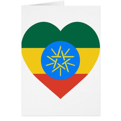 Corazón de la bandera de Etiopía Felicitacion