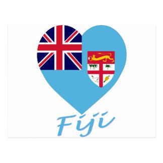 Corazón de la bandera de Fiji Postal