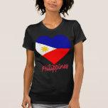 Corazón de la bandera de Filipinas Camiseta