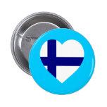 Corazón de la bandera de Finlandia Pin
