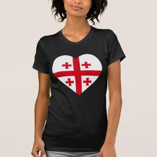 Corazón de la bandera de Georgia Camiseta