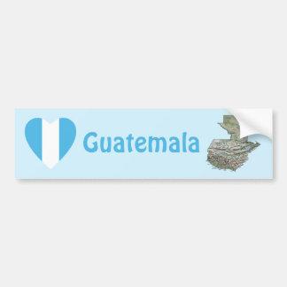 Corazón de la bandera de Guatemala + Pegatina para Pegatina Para Auto